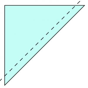 coudre en suivant la diagonale