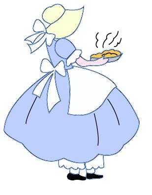 Sunbonnet Sue fait des gâteaux