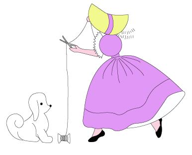Sunbonnet Sue fait de la couture