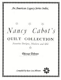 NNancy cabot quilt collection