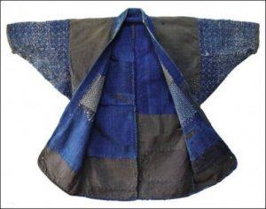 Japanese boro's Long John blog authentic blue indigo rags sashiko technique vintage century farmers jacket rags natural patched worker denim jeans workwear craftsmanship