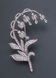 broche en diamants vendue à Christie's