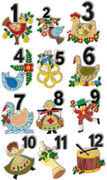 Les Douze jours de Noël | Patchwork Perles et Broderies